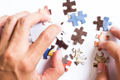 Puzzle. Colourful puzzle on white background Stock Image