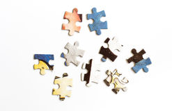 Puzzle. Colourful puzzle on white background Royalty Free Stock Photography