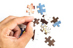 Puzzle. Colourful puzzle on white background Royalty Free Stock Photos