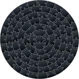 Puzzle complexe circulaire illustration libre de droits
