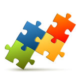 Puzzle - composed four parts Royalty Free Stock Images