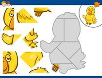Puzzle con il canarino Immagine Stock