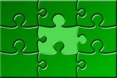 Puzzle con la parte mancante Fotografie Stock