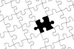 Puzzle con la parte mancante fotografie stock libere da diritti