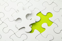 Puzzle con la parte mancante Immagini Stock