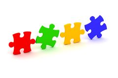 Puzzle concept. Very high quality render Royalty Free Stock Photo