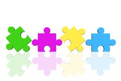 Puzzle concept. Isolated in white background stock illustration