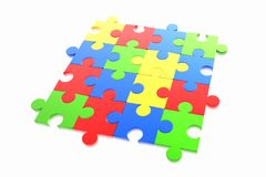 Puzzle concept. Isolated on the white background vector illustration