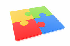 Puzzle concept. Isolated in white background vector illustration