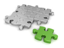 Puzzle concept  3d illustration Royalty Free Stock Photos