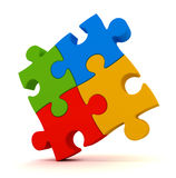 Puzzle concept   3d illustration Stock Photography