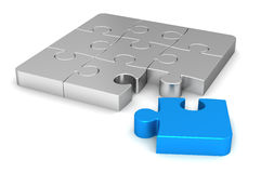 Puzzle concept  3d illustration Royalty Free Stock Images