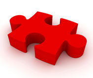 Puzzle concept  3d illustration Royalty Free Stock Photo