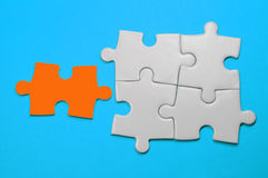 Puzzle - concept de direction Image libre de droits