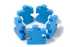 Puzzle concept teamwork Stock Photo