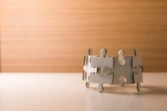 Puzzle concept teamwork Stock Image