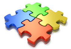 Puzzle Connection Stock Photo