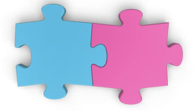 Puzzle Connection. Jigsaw puzzle concept.. White background Royalty Free Stock Photo