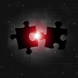 Puzzle Connection Business Background Stock Photo