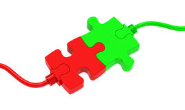 The puzzle connection Royalty Free Stock Photography
