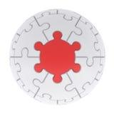 Puzzle consistenti della sfera Fotografia Stock Libera da Diritti