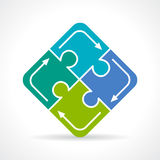 Puzzle conundrum icon. Vector illustration Stock Photo