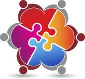 Puzzle couple logo Royalty Free Stock Photo