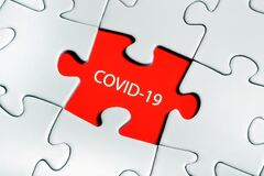 Puzzle with Covid-19 words