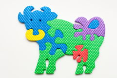 Puzzle of cow Stock Photo