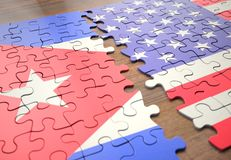 Puzzle Cuba And United States royalty free stock image