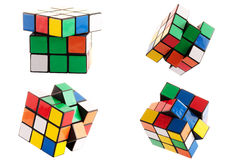 Puzzle cube. Isolated on white background Stock Images