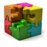 Puzzle cube Royalty Free Stock Photos
