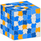 Puzzle cube. Illustration for your business presentation. Stock Images