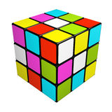 Puzzle cube isolated on white background Royalty Free Stock Photography