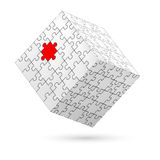 Puzzle cube. Royalty Free Stock Image