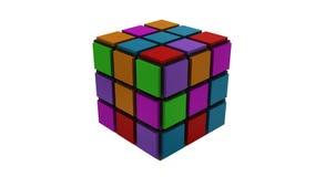 puzzle cubico di strategia 3d royalty illustrazione gratis