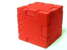 puzzle czerwony Fotografia Royalty Free
