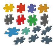 puzzle 3 d Ilustracji