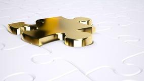 Puzzle d'or Photos libres de droits