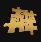 Puzzle d'or Images libres de droits