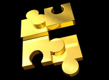 puzzle d'or Photographie stock