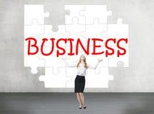 Puzzle d'affaires Images stock