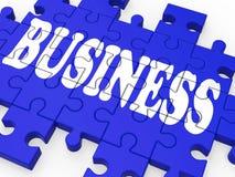 Puzzle d'affaires affichant des affaires de corporation Images libres de droits