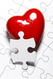 Puzzle d'amour Photographie stock