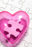 Puzzle d'amour Photo libre de droits