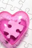 Puzzle d'amour Photo libre de droits