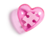 Puzzle d'amour Photographie stock libre de droits