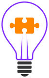 Puzzle d'ampoule Images stock