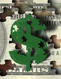 Puzzle d'argent Photo libre de droits