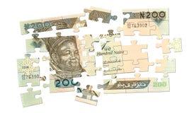 puzzle d'argent comptant de 200 nairas Photos stock